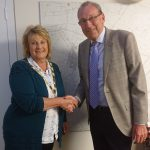 The new Mayor of Chatteris is Councillor Linda Ashley pictured with the outgoing Mayor Councillor Bill Haggata